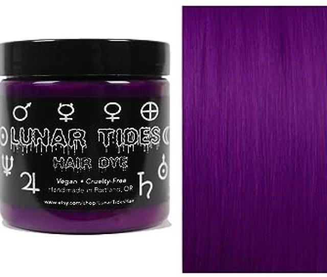 Lunar Tides Hair Dye Plum Purple Semi Permanent Vegan Hair Color  Fl