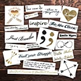 Say Something Gold Pack Temporary Tattoos | Skin Safe | MADE IN THE USA| Removable