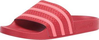 Adidas ORIGINALS Women's Adilette Shoe, Scarlet/Flash Red/Scarlet, 9 Regular US