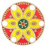 Ethnic Avenue 13 Piece Rangoli Diwali Decoration - Handmade Acrylic Home Decor Accents for Floor/Wall / Table