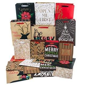 Christmas Gift Bags Bulk.Caveen 8 Pack Christmas Gift Bags Bulk Holiday Gift Kraft