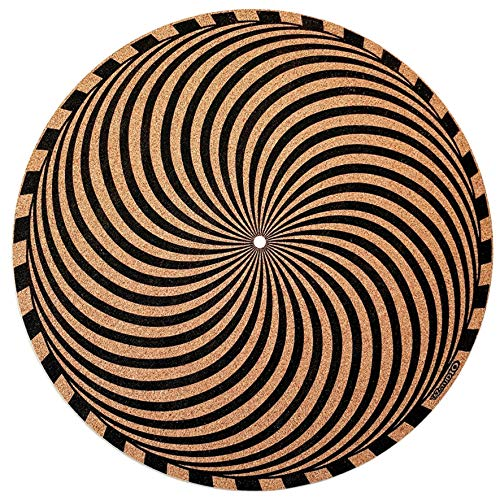 Taz Studio: Premium Turntable Slipmat - Specially designed Cork./ psychedelic geometric storm