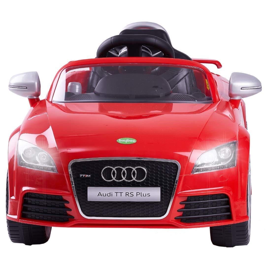 Baybee Audi TT Licensed Rechargeable Battery Operated Ride on car for Kids Music|Kids car Parent Remote Control Electric RC Ride On Car|Baby car for Kids Drive Toys Car Suitable for Boys & Girls (Red)