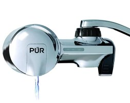 PUR PFM400H Chrome Horizontal Water Filtration Faucet Mount with 1 Mineral Clear Filter