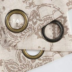 Taupe Paisley Scroll Curtains