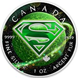 2016 CA BU Canada 5$ Superman 1 oz Colored US Krypton Precious Bullion 999 Silver Coin $5 Uncirculated BM