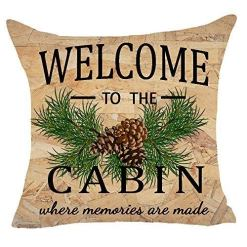 Welcome to The Cabin Pillow Cover