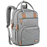 Diaper Bag Backpack, iniuniu Large Unisex Baby Bags Multifunction Travel Back Pack for Mom and Dad with Changing Pad and Stroller Straps