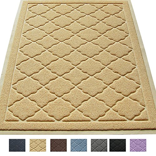 """Premium Large Cat Litter Mat 35"""" x 23"""", Traps Messes, Easy Clean, Durable, Litter Box Mat with Scatter Control - Soft on Kitty Paws"""
