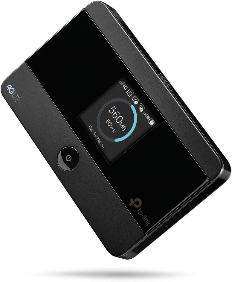 TP-Link Routeur Mobile 4G LTE-Advanced Wifi Bi-Bande, Batterie Rechargeable 2000 mAh, 1 Port Micro USB, 1 Emplacement Carte SIM (M7350 V4.0)