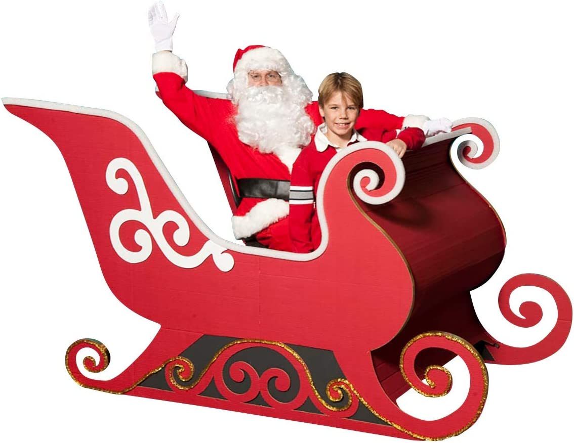 Amazon Com Anderson S Santa S Sleigh Photo Op Kit Cardboard Christmas Decoration Everything Else