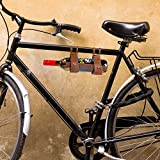 CKB Ltd Leather Bicycle Wine Bottle Holder - Carrier Rack Bottle Holder Ideal For Taking Wine On A Picnic Or Day Trip
