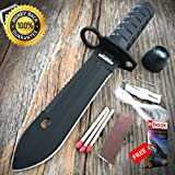 9'' Camping Hunting Rambo Outdoor Fixed Blade Knife Army Bowie Survival Kit For Hunting Tactical Camping Cosplay + eBOOK by MOON KNIVES
