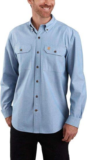 Carhartt Mens Original Fit Long Sleeve Shirt Work Utility Button Down Shirt