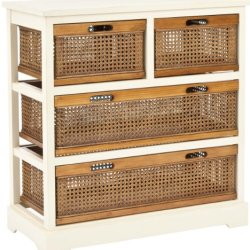 Safavieh American Homes Collection Jackson Barley and Cane 4-Drawer Storage Cabinet
