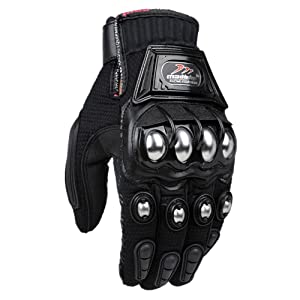 LM Alloy Steel Knuckle Motorcycle Gloves Motorbike Powersports Racing Tactical Paintball