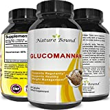 Pure Glucomannan Powder Bulk Supplements for Natural Constipation Relief - Appetite Control Fiber Capsules to Lose Weight - Weight Loss Pills for Women and Men - Colon Cleanse Detox by Nature Bound