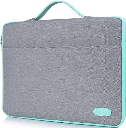 ProCase 14-15.6 Inch Laptop Sleeve Case Protective Bag, Ultrabook Notebook Carrying Case Handbag for 14' 15' Samsung Sony ASUS Acer Lenovo Dell HP Toshiba Chromebook Computers -Light Grey
