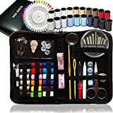 SEWING KIT, Over 120 Premium Sewing Supplies, 38 Spools of Thread - 20 Most Useful Colors of Threads & 18 Multi Colors, Extra 40 quality sewing pins - Mini Travel sewing kit, for Beginners, Emergency