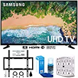 Samsung UN55NU6900 55' NU6900 Smart 4K UHD TV (2018) w/Wall Mount Bundle Includes, Wall Mount Kit for 45-90 inch TVs, Screen Cleaner (Large Bottle) and SurgePro 6-Outlet Surge Adapter w/Night Light