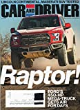 Car and Driver Magazine 2017 LINCOLN CONTINENTAL RESERVE 3.0T AWD, MASERATI LEVANTE'S Q4 SUV TESTED BMW 5-Series