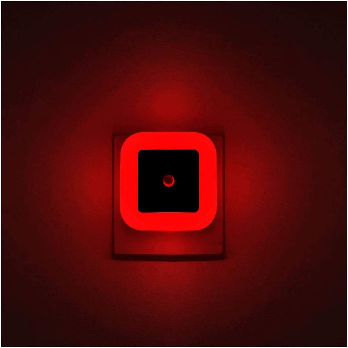 Pack Of 4 Red Night Light Plug In Led Wall Lamp With Dusk To Dawn Sensor Auto On Off Perfect For Bedroom Baby And Kid S Room Amazon Com