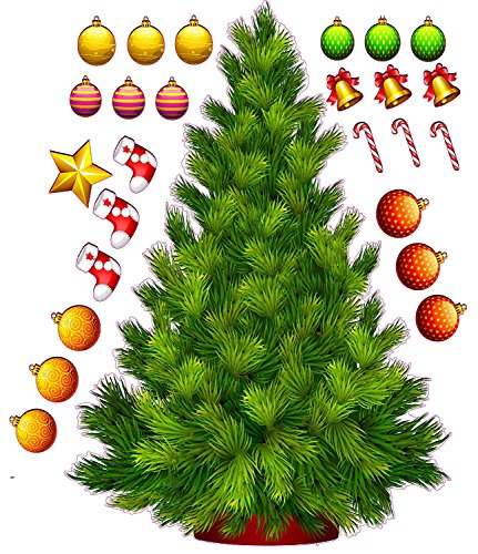 Build a Christmas Tree Large Wall Decor Decal 36