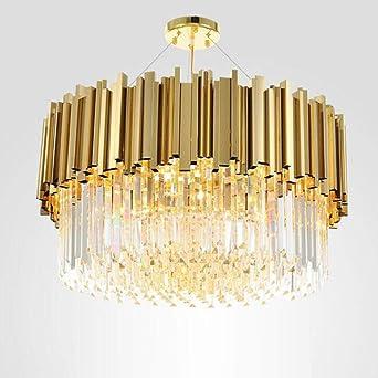 New Modern Lighting Chandelier Luxurious Crystal Chandelier For Living Room Dining Room Gold Crystal Chandelier Led Lights Dia60cm H35cm Cold White Light Fittings Ceiling Light Shades Ceiling Amazon Co Uk Lighting
