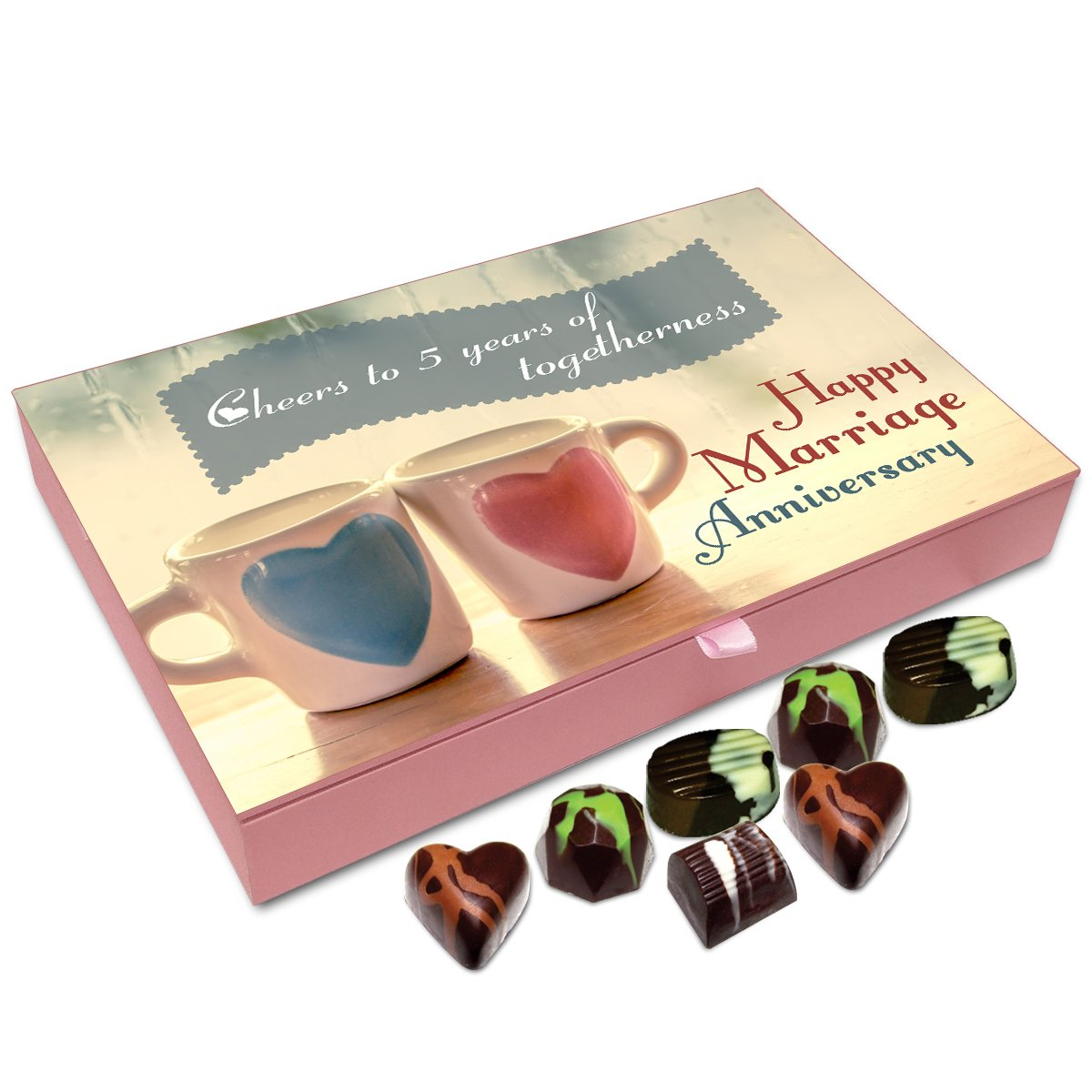 Chocholik Anniversary Gift Box – Cheers to Five Years of Togetherness Chocolate Box – 12pc