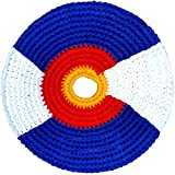 Pocket Disc 'El Grande' Foldable Frisbee - Guatemalan Fair Trade Foldable Flying Disc - Multi-Color Knit Pocket Frisbee - Fabric Frisbees for Kids and Adults - Various Patterns - 8 Inch Frisbee
