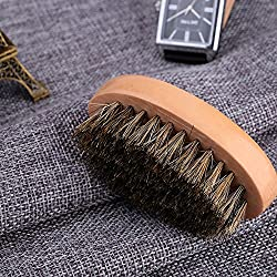 Beard Brush for Men Long Beard Grooming and Shaping, Boar Bristle Beard Comb Natural Bamboo Facial Pocket Brush for Mustache Styles Short, Great with Beard Oil, Balm, Beard Shampoo and Conditioner  Image 4