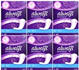 Always Xtra Protection Regular Daily Liners, 50 Count (Pack of 6)