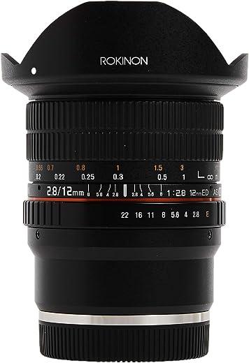 Rokinon 12mm F2.8 Ultra Wide Fisheye Lens for Sony E Mount Interchangeable Lens Cameras (NEX) - Full Frame Compatible