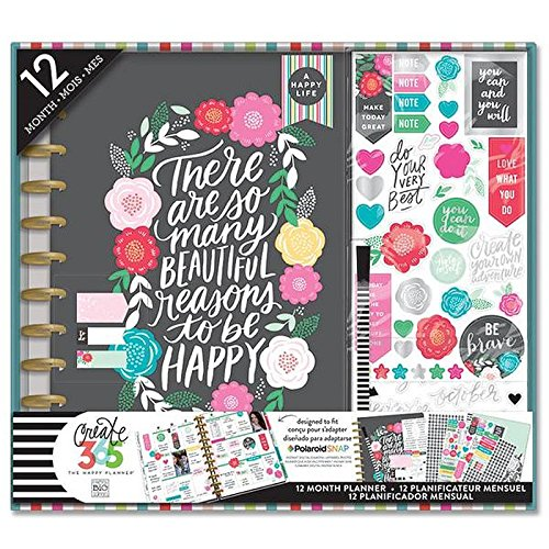 me & my BIG ideas BOX-112 Create 365 The Happy Planner Box Kit 12 Month Undated, Big Flower Pop Big