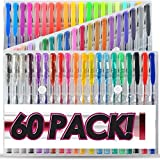 Bold 60 Gel Pens Set Colored Gel Pen plus for Adults Coloring Books Drawing Art Markers