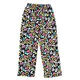 Popular Girl's Fuzzy Fleece Pajama Pants - Emoji Cluster - 10/12