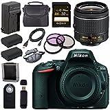 Nikon D5500 DSLR Camera with AF-P 18-55mm VR Lens (Black) + EN-EL14 Replacement Lithium Ion Battery + External Rapid Charger + Sony 32GB SDHC Card + Carrying Case Bundle