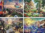 Ceaco Thomas Kinkade 4-in-1 Multi Pack Disney Puzzles (500 Piece)
