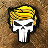 Trump Punisher PVC Morale Patch MAGA - Hook Backed by NEO Tactical