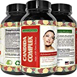 Natural Candida Cleanse - Yeast Detox Supplement with Probiotic + Oregano Leaf Oil Extract - Pure Formula for Yeast Infection Support for Men + Women - Cleanser and Weight Loss - California Products