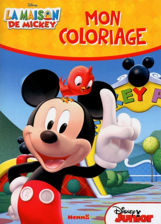 La maison de Mickey Mon coloriage : Disney Junior: Amazon.de: Books