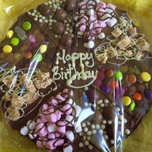 Chocolate Sweet Pizza Personalised 12 inches 61onXOXsYpL