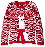 Blizzard Bay Big Boys Ugly Chrismas Sweater Animals, red/white/llama, 14-16 L