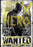 """Ata-Boy Batman v Superman Dawn of Justice Batman Fear the Bat 2.5"""" x 3.5"""" Magnet for Refrigerators and Lockers"""