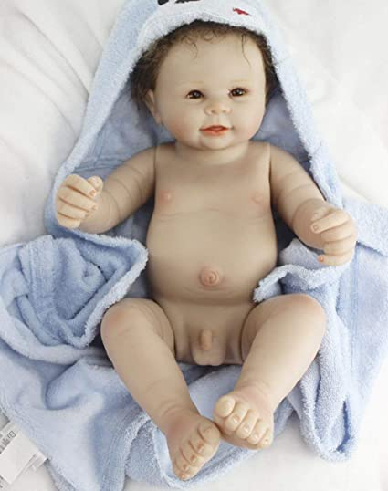Amazon Com Reborn Baby Dolls Full Body Silicone Baby Boy Eyes Open Realistic Cute Doll 22 Inches Washable Toy Dolls Anatomically Correct Toddler Gifts Set Toys Games