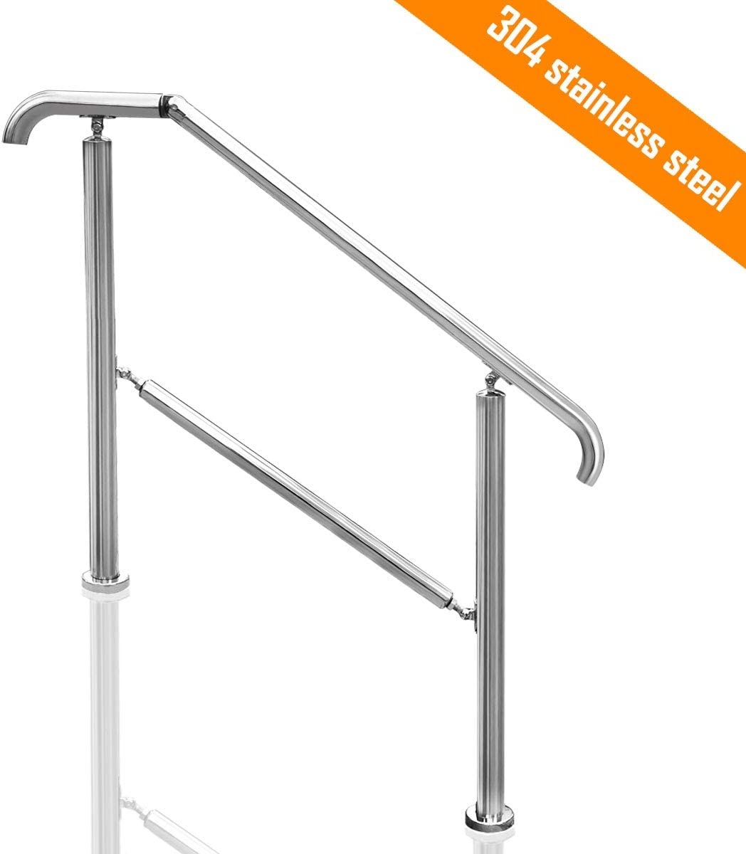 Transitional Handrail Stainless Steel Fits Level Surface And 1To 5 | Stainless Steel Outdoor Handrails | Safety | Stainless Pipe | Hand Rail | Tube | Square