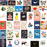 Fresh & Lucky 40 Greeting Cards Stationery Assortment - Premium Quality All Occasion Greeting Cards Box Set - For Birthdays Weddings Anniversaries Sympathy Graduation and Congratulations