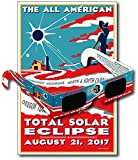 Eclipse Glasses for the Great American Eclipse 2017 (5 Pack) - CE & ISO Certified - Includes Commemorative Poster - Made in USA