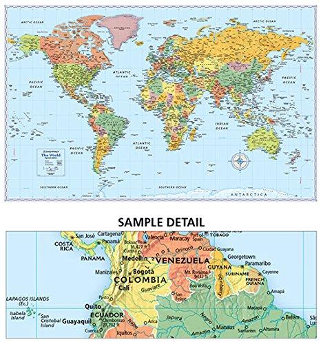 Rand Mcnally Signature Map Of The World 50 X 32 Inch border=
