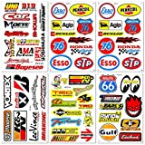 Automotive Cars Auto Racer Race Drag Motorcycle BMX Motocross Dirtbike Vintage Parts Tools Brand Helmet Racing Pack 6 for Kids Adults Variety Graffiti Vinyl Decals Stickers kit Sheet D6727 Best4Buy